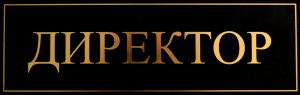 Табличка фольгирование по винилу золотом