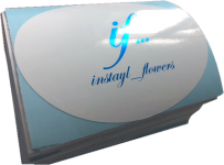 виниловая наклейка инстайл фловерс